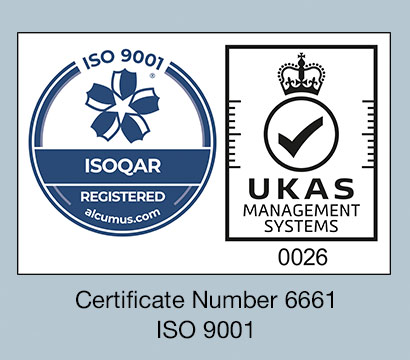 Certificate Number 6661, ISO 9001